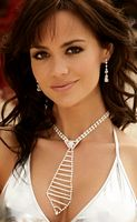 EM-J1357 Sexy Rhinestone Drop Strands Necklace