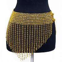 BAB-SK2 Sexy Beaded Gold V-Skirt