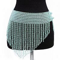 BAB-SK2 Sexy Beaded Teal V-Skirt