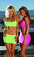 EM-6722 Brilliant Colored Mini Skirt and Cami Top