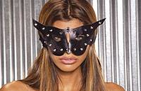 EM-L9155 Leather Cat Mask with Studs