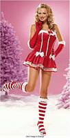 LA-83377 Santas Helper Sexy Clear Strap Dress