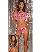 SOH-2971 Slinky 2 Piece Two-Tone Feathers Set