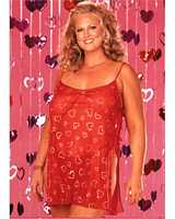 SOH-X20067 Knit Chemise With Glittery Hearts