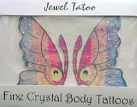 SA505b Multiple Color Butterfly Tattoos